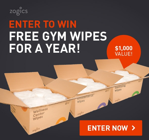Enter to win a year of free gym wipes!