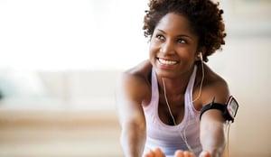 Happy healthy gym