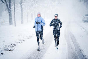 Running in the snow