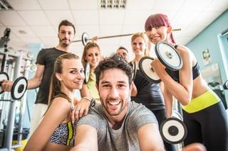 Take a gym selfie