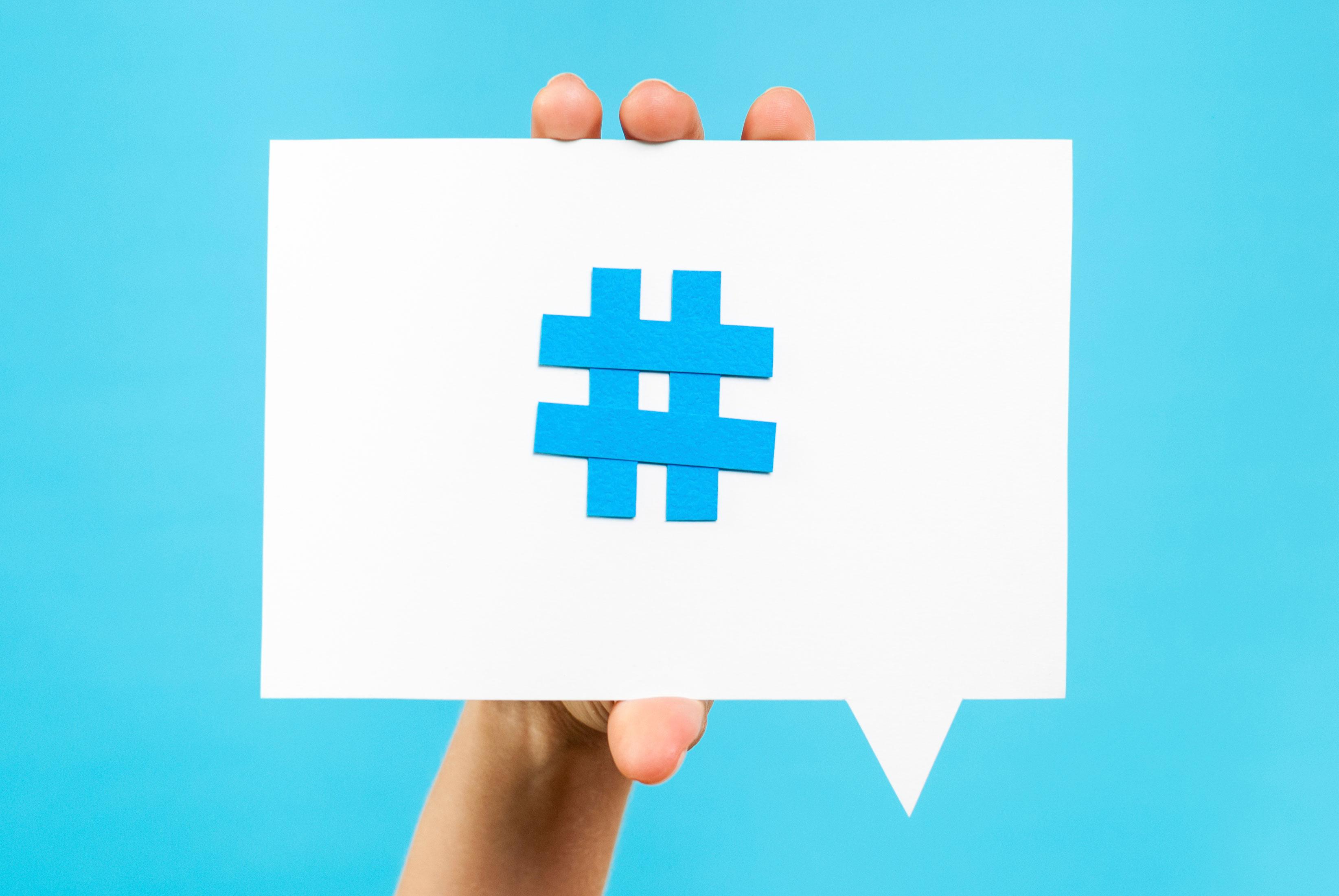 Use hashtags