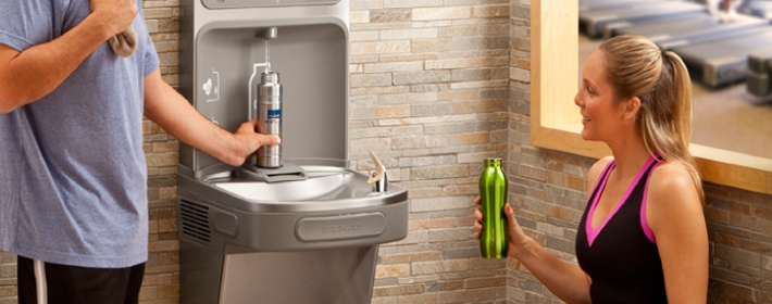 Switch from water bottles to Elkay's water fountains