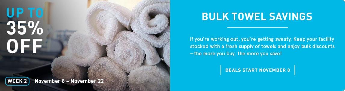 Bulk Towel Savings - Save Up to 35% off!