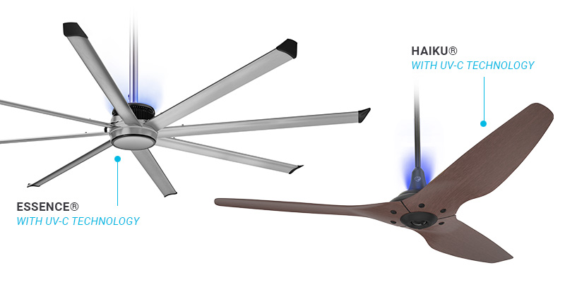 Big Ass Fans® Clean Air System Fans with UV-C Disinfection Technology