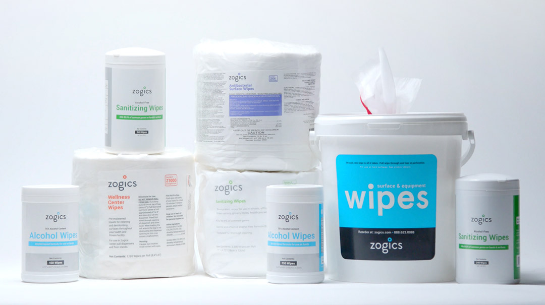 Zogics disinfecting and cleaning wipes