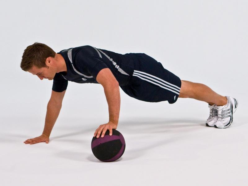 Medicine Ball Push Ups