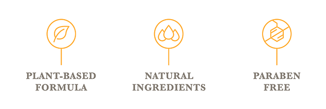 Plant-based formula, natural ingredients, paraben free