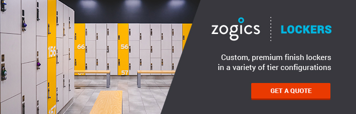 Zogics Lockers – Custom, premium finish lockers in a variety of tier configurations – Get a quote today