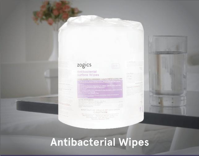 Zogics EPA Registered Antibacterial Gym Wipes