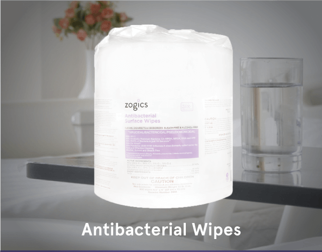 Zogics EPA Registered Antibacterial Gym Wipes