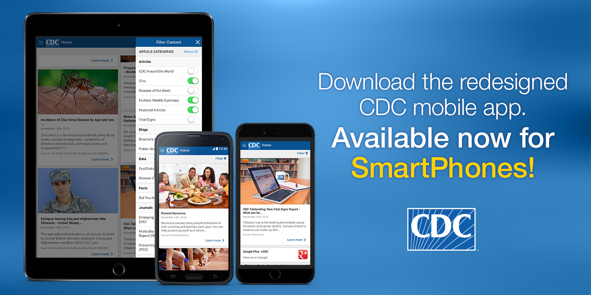 Mobile alerts from the CDC