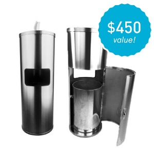 Get a free stainless wipe dispenser with 6+ cases of wipes at reg. price