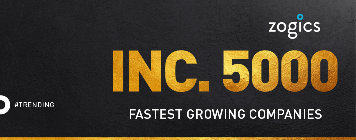 Zogics Named to the Inc. 5000 Fastest-Growing Private Companies in America